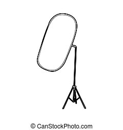 Reflector for photography icon, outline style - Reflector...