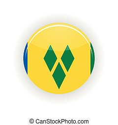Saint Vincent and Grenadines icon circle isolated on white...
