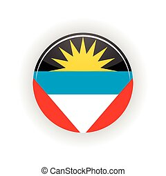 Antigua and Barbuda icon circle isolated on white background...