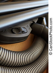 New Vacuum Cleaner - Spare parts and pipes of a new vacuum...