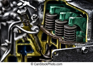 Piston of diesel engine - Close up of piston of diesel...