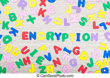 Letter cluster with english word encryption - A cluster of...