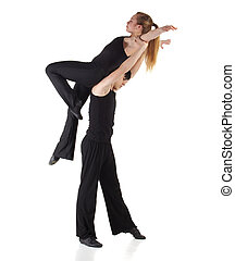 Modern Jazz dancer - Young caucasian Modern Jazz dancer in a...