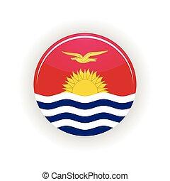 Kiribati icon circle isolated on white background. South...