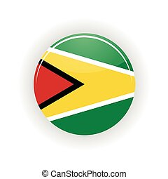 Guyana icon circle isolated on white background Georgetown...
