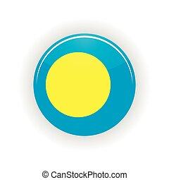 Palau icon circle isolated on white background Melekeok icon...