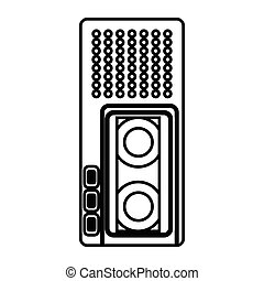 Dictaphone icon, outline style