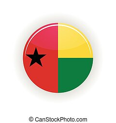 Guinea Bissau icon circle isolated on white background icon...