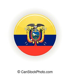Ecuador icon circle isolated on white background Quito icon...