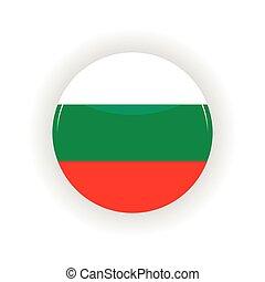 Bulgaria icon circle - icon circle isolated on white...