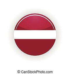 Latvia icon circle isolated on white background Riga icon...