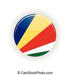 Seychelles icon circle isolated on white background Victoria...