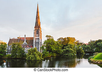 St. Alban's Church at Golden Hour Time - St. Alban's Church...