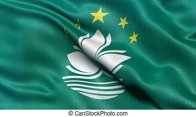 Macao flag seamless loop