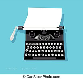 Typewriter - Vintage typewriter with a piece of paper in it,...