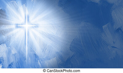 Graphic Christian cross with inner glow