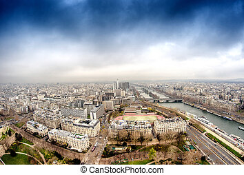 Magnificence of Paris skyline, France.