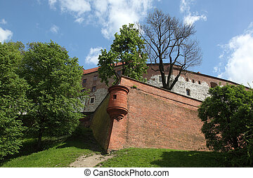 Wawel Castle - Tower of Wawel Castle Krakow Poland
