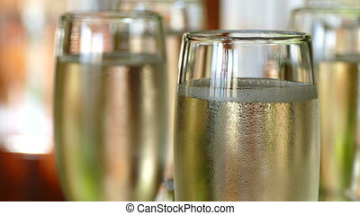 Glasses of Champagne - Chilled Champagne in Glasses