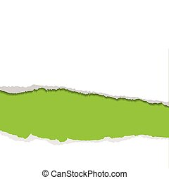 green torn strip background - Green background with white...