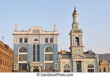 Former Greek Monastery on the Kontraktova Square in Kiev,...