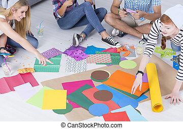 terv, művészet, osztály