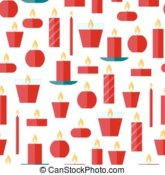 Vector seamless pattern of a candles - Vector seamless...