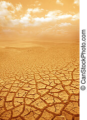 Droughty ground and sky background - Droughty ground and hot...