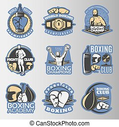 Boxing Colored Emblems
