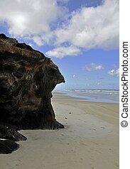 Coffee Rocks, Fraser Island - Coffee Rocks on the East Beach...