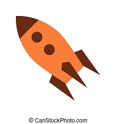 colorful toy rocket icon