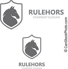 Vector horse logo template