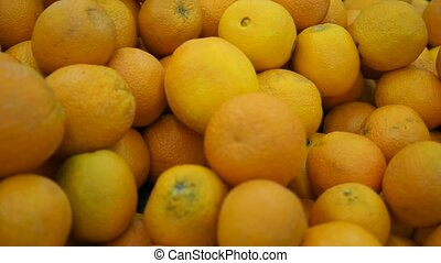 fresh fruit on the counter in the store - sale of fresh...