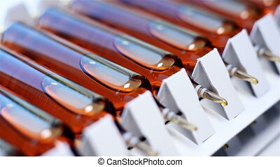 Ampoules Containing Pharmaceutical Products, Close Up
