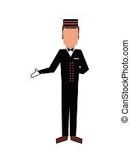 bellboy or bellhop icon - flat design bellboy or bellhop...