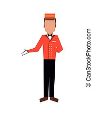 bellboy or bellhop icon - flat design bellboy or bellhop...
