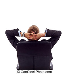Business relaxation - Business relax of the businessman...