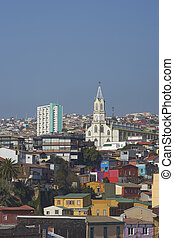 Colourful Hillsides of Valparaiso - Colourfully decorated...