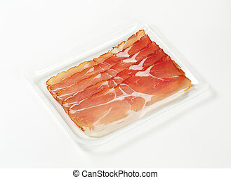 Thin slices of Schwarzwald ham - Thin slices of dry-cured...