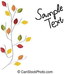 Abstract illustration of autumn vector illustration autumn