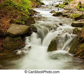 Breathtaking clean waterfall - Breathtaking waterfall is...
