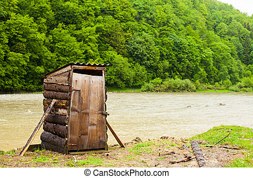 Toilet and river - Amazing view of toilet with rever between...