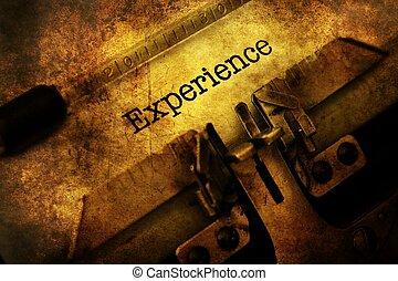 Text, Årgång, erfarenhet, skrivmaskin