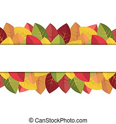 Autumn leaves on a white background vector illustration