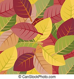 Autumn leaves on a white background. vector illustration