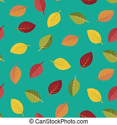 Seamless autumn leaves vector illustration - Seamless...