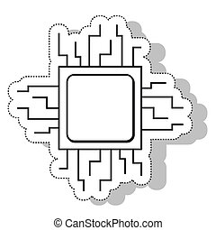procesor circuit electric isolated icon vector illustration...