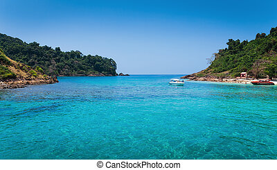 Tropical island in Thailand - KOH CHANG, THAILAND - MART 30,...