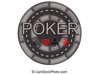 poker casino chip - casino chip isolated on white background