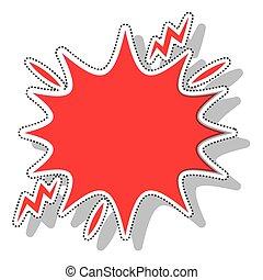 splash comic isolated icon